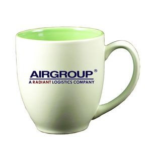 16 Oz. St. Cloud Bistro Mug - Green Out/Green In (Pastel 2 tone Series)
